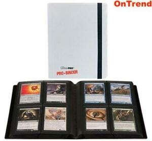 ULTRA-PRO-BINDER-ALBUM-4-POCKET-20-PAGES-HOLDS-160-CARDS-MTG-Pokemon-WHITE