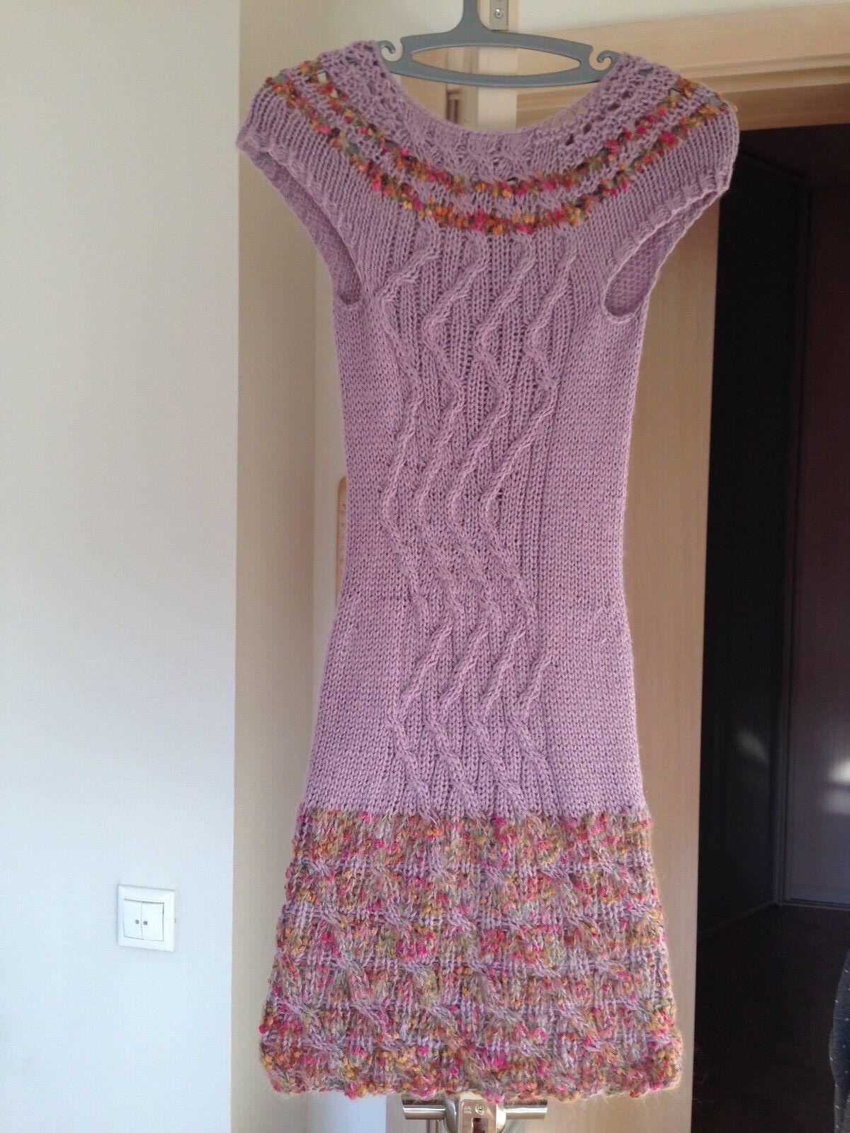 Iceland Sheep Wool Knit Sweater-Dress