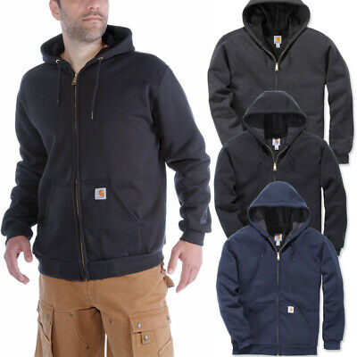 Carhartt Mens Rutland Poly Thermal Lined Hooded Sweatshirt | eBay