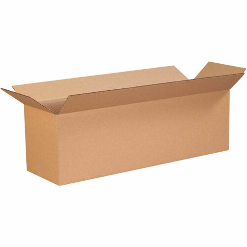 4 x 4 x 8 Cardboard Corrugated Boxes Shipping 65 lbs Capacity Lot Of 25