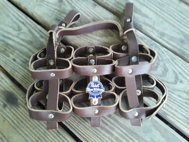 Fyxation Leather Bicycle Frisbee Disc Carrier Brown