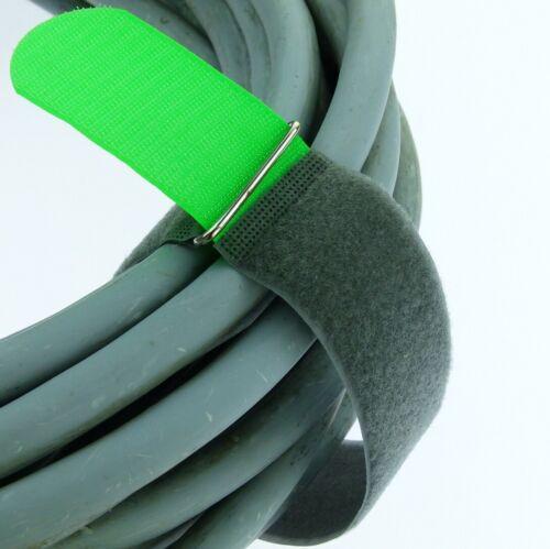 20x Klettband Kabelbinder FK 50 cm x 50 mm neon grün Klettbänder Kabelklettband