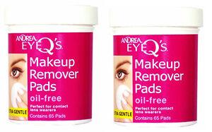 Andrea-Eye-Q-039-s-oil-free-makeup-Remover-Pads-65-per-jar-2-jars