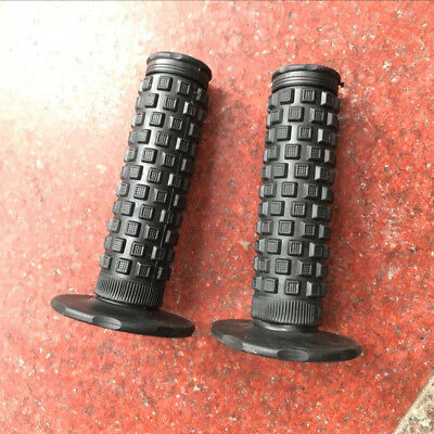 BLACK GRAY Taper Grips Dirt Bike Gel Handle Bar Motorcycle Hand Grips MX KLX KTM