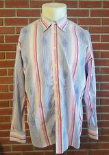 490fe3ca76c item 4 Robert Graham Long Sleeve Button Front Striped Shirt Mens 2XL Made  in INDIA EUC -Robert Graham Long Sleeve Button Front Striped Shirt Mens 2XL  Made ...