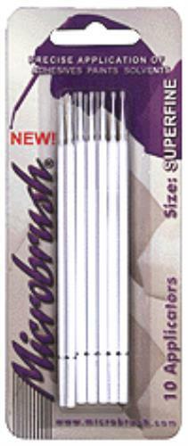 NEW Creations Unlimited #1302 Microbrush Applicators Regular Tip 25 Ct