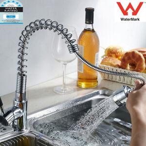 Kuechenarmatur-Einhebelmischer-Spueltisch-Armatur-Spiralfeder-Wasserhahn-Brause-GF