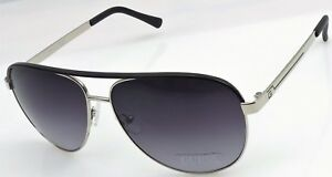 a5c368fd19 GUESS GF0172 10B Men s Silver Black Frame Grey Lens Aviator ...