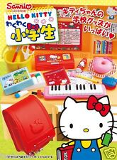 Hello Kitty Re-Ment Miniatures Elementary school supplies Stationery Full Set