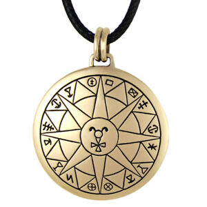 Bronze talisman for safe travel pendant protection amulet wiccan image is loading bronze talisman for safe travel pendant protection amulet aloadofball Gallery