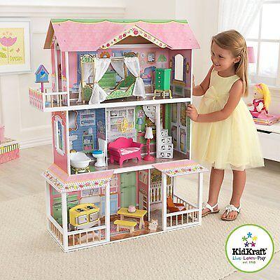 Kidkraft Sweet Savannah Dollhouse, wooden dollshouses, girls dolls toys