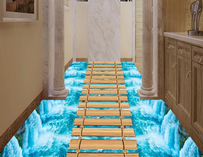 3D Clear Waterfall 7855 Floor WallPaper Murals Wall Print Decal 5D AU Lemon
