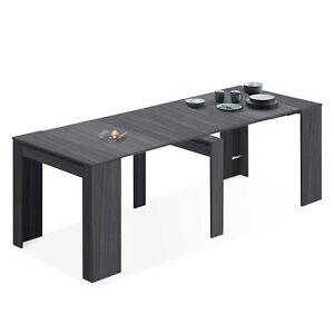 Detalles de Mesa de comedor mesa consola extensible mesa cocina, Gris Ceniza