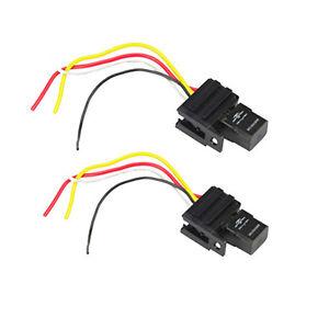 hs 2pack 12v relay \u0026 socket for electric fan fuel pump horn car kit