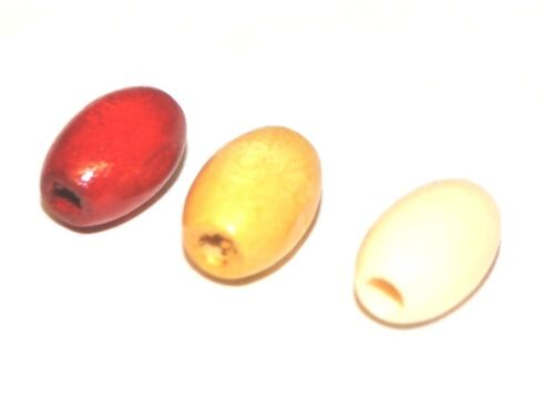 BROWN 1000 OVAL WOODEN WOOD JEWELLERY CRAFT BEADS CRAFTING RED 6x9mm