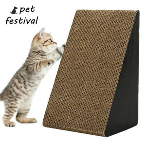 Cat-Corrugated-Scratcher-Pet-Claw-Scratching-Board-Bed-Toy-Post