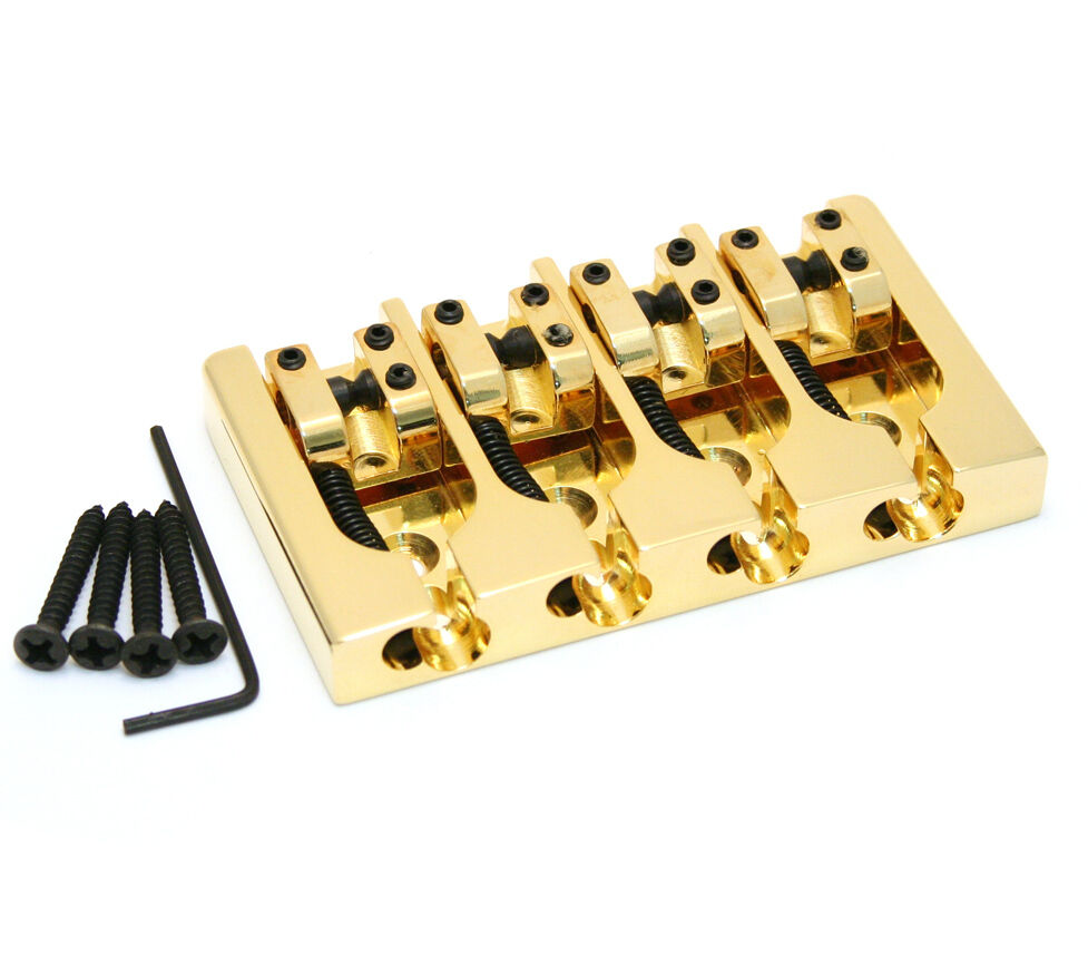 Brand new 4 string Hipshot A style brass Gold bass bridge 0.750 19mm bajo