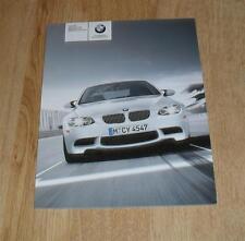 BMW M3 Brochure 2009 E90 Saloon E92 Coupe & E93 Convertible - 4.0 V8 - US Market