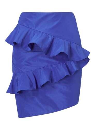 MISS SELFRIDGE BLUE RUFFLE MINI SKIRT SIZE 12 14 /& 16 BRAND NEW