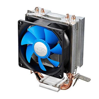 8cm Fan CPU Cooler Heatsink Dual Pipe fo Intel LGA775 1156 1155 AMD AM2 AM3+ AM3