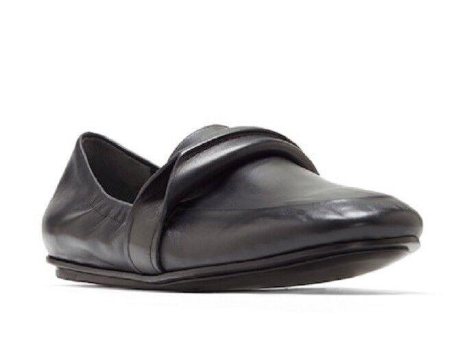 Mercedes Castillo Erin Loafer Flat Black Nappa Leather NIB NIB NIB  298 a0fa96