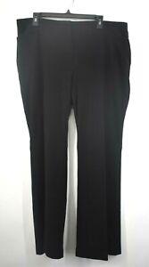 Chicos-Womens-Black-Straight-Leg-4-Pocket-Stretch-Casual-Dress-Pants-Size-3