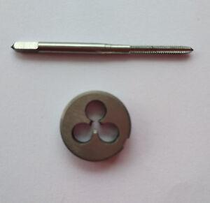 1pc HSS Machine M10 X 0.5mm Plug Tap and 1pc M10 X 0.5mm Die Threading Tool