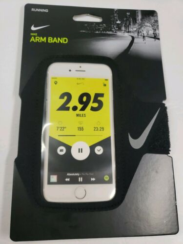 New! Nike Ventilated Running Arm Band Armband Black Crimson NRN67 026 OS