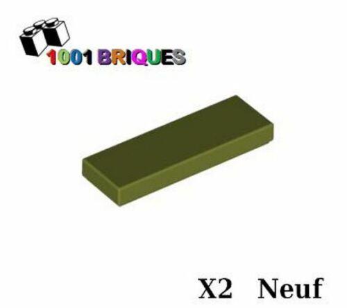 Lego 63864 x2 Tile 1 x 3 Olive Green