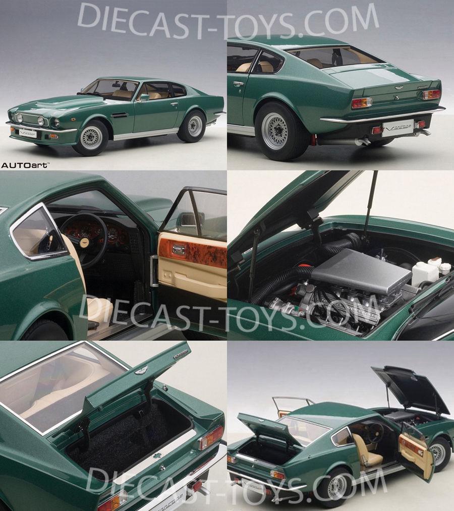 1 18 Autoart 1985 aston martin v8 Vantage verde