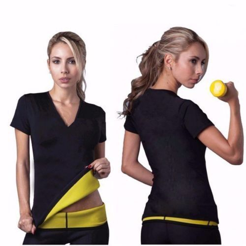 Hot Sauna Neoprene Slimming Shaper Burn Fat Sweat Bra Belt T-shirt Top Pants