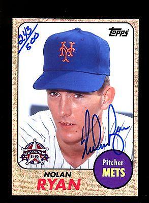 1995 FanFest Ryan Autograph #2 Nolan Ryan 243/500 Mets 7ZRR 143