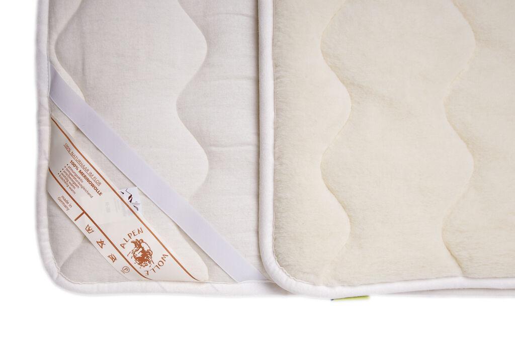 Unterbett Matratzenauflage Bettauflage Schonbezug 100% Merinowolle, Alle Maße