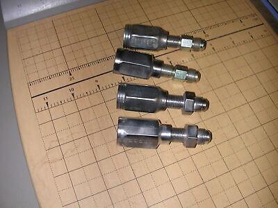 4 Reusable Hydraulic Hose Fittings Male JIC-8 x  hose NOS EATON PUMP CONTR0L