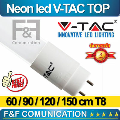 Tubo Led Lunghezza 60 90 120 150 Cm Neon T8 T5 G13 G5 Barra Soffitto V-tac