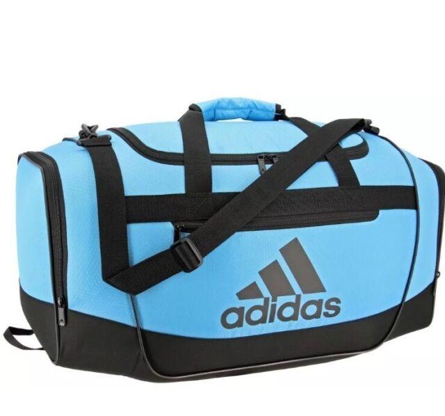 Adidas Defender Iii Small Duffel Bag Bright Cyan Black New