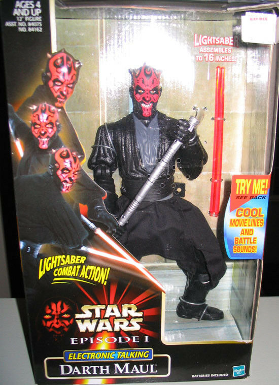 STAR WARS DARTH MAUL ELECTRONIC 12 ACTION FIGURE MIB KENNER LIGHT SABER ACTION