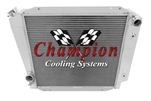 4 Row SZ Champion Radiator for 1966-1977 Ford Bronco Ford V8 Conversion