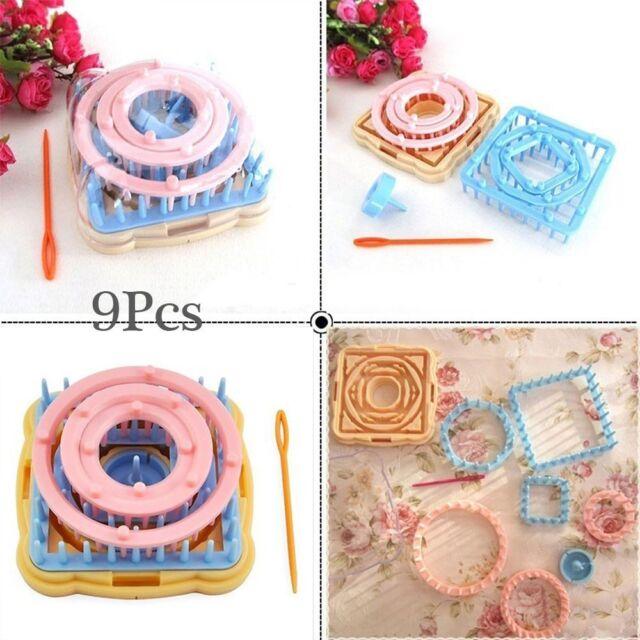 9pcs Flower Daisy Pattern Knitting Loom Maker Wool Yarn Needle Knit ...