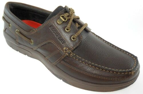 ROCKPORT STREETSAILING 3 EYE OX MEN/'S BROWN LEATHER BOAT SHOES V80918