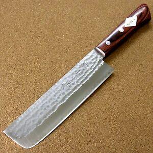 AgréAble Japonais Cuisine Nakiri Légumes Couteau 165 Mm 6.5 In (environ 16.51 Cm) 3 Couches Martelé Japon-afficher Le Titre D'origine