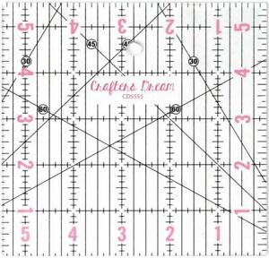 Crafters Dream Transparent Quilting /& Patchwork Ruler 1 x 12.5