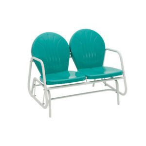 Jack-Post-Turquoise-Steel-Glider-Chair