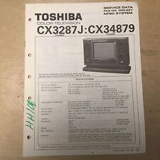 Toshiba Basic Service Manual for the CX3287J CX34879 TV ~ Repair mp