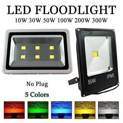 LED Flood Lighting Spotlight 10W//30W//50W//200W//300W No Plug Garden 110V//220V