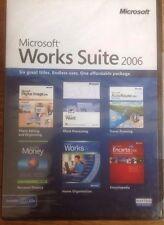 MICROSOFT WORKS SUITE 2006 WORD MONEY FINANCE WORKS 8 DIGITAL IMAGE PHOTORAPHY