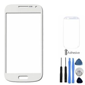 White-Front-Outer-Screen-Glass-Lens-For-Samsung-Galaxy-S4-Mini-Tools-Adhesive