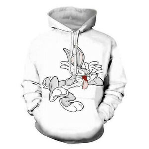 Hot Sale 3D Printed Funny Bugs Bunny Lola Hoodies Pullover Women Men Sweatshirts