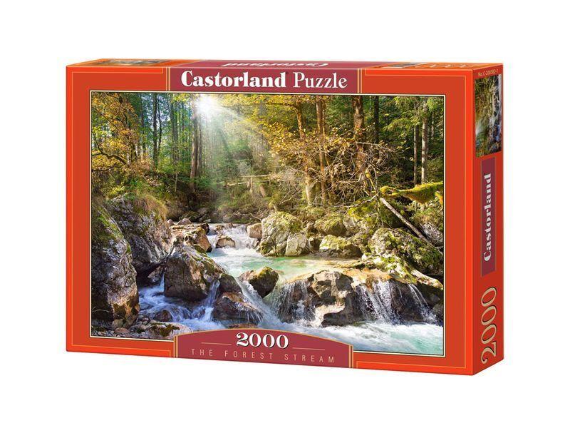 Castorland puzzle 2000 stcke - wald - stream - 36  x27  versiegelte kiste c-200382