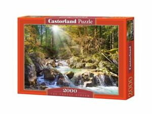 "Castorland Puzzle 2000 Pieces - The forest stream - 36""x27"" Sealed box C-200382"